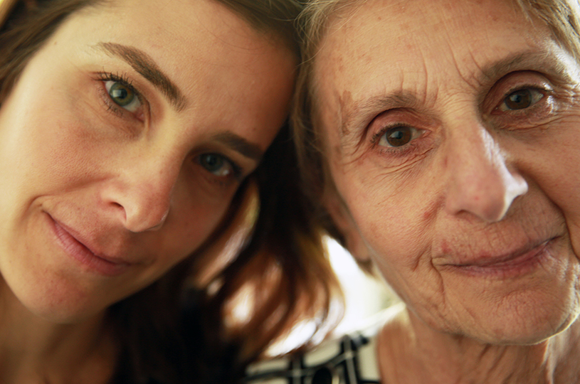Barbara Schechter with her mother Donna.