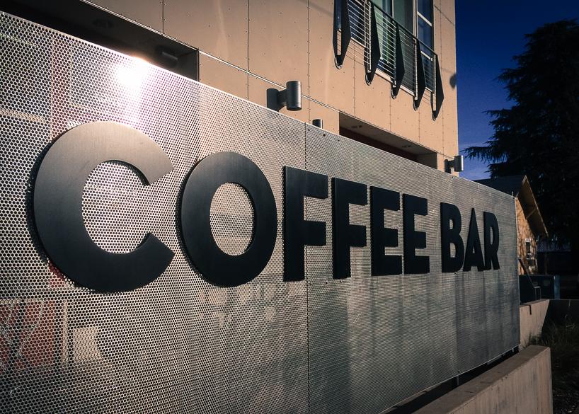 Post walk coffee at the Coffee Bar