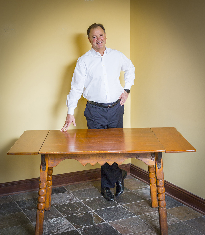 The original Kiley family kitchen table