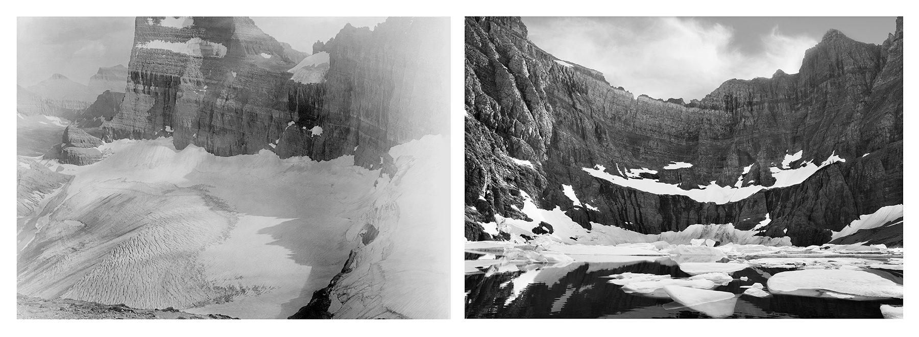 Mona Miri, 'Diptych, Melting Glacier - Iceberg Lake MT' (2017)