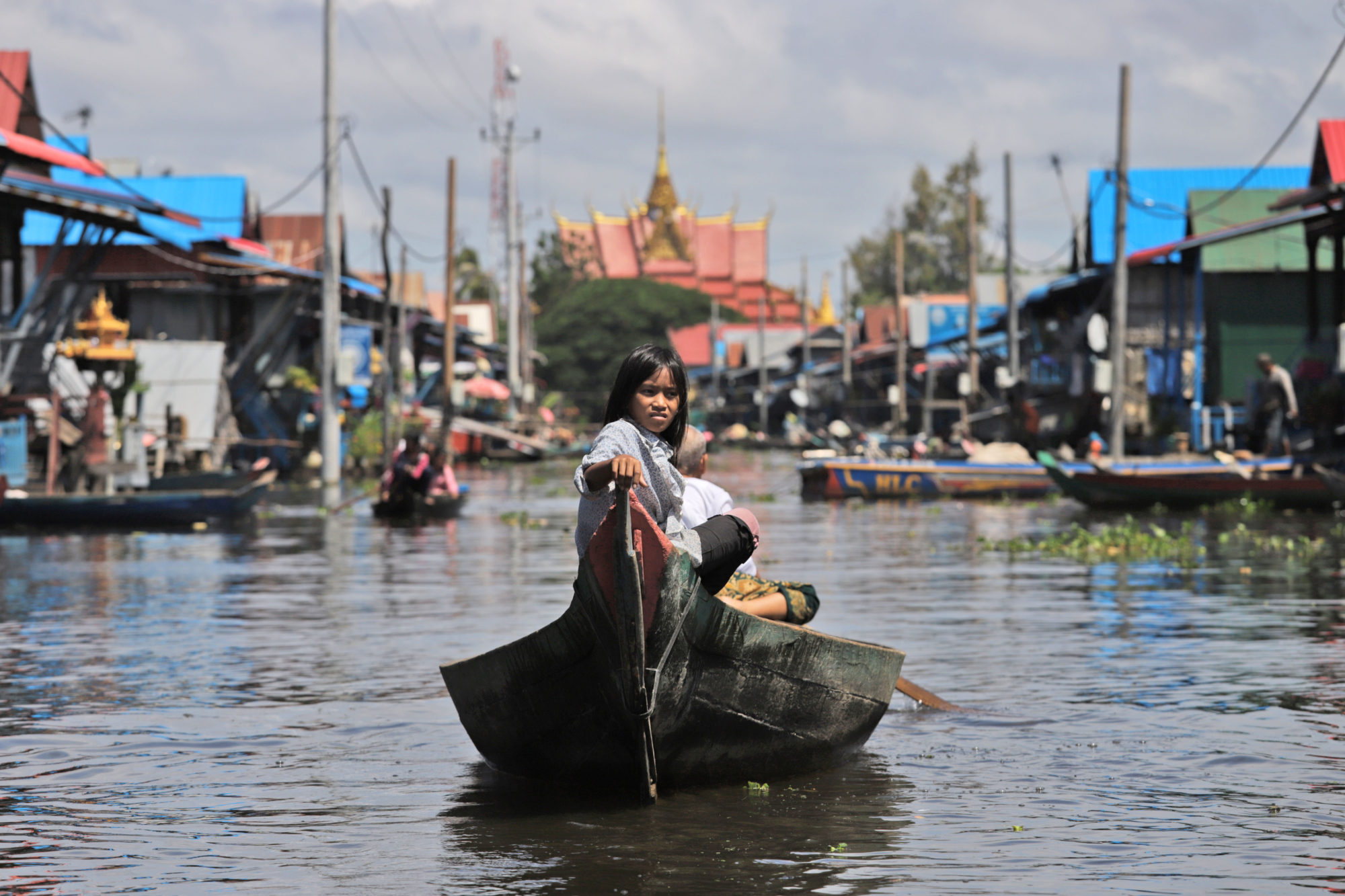 Mark Phoenix, 'The High Street, Kompong Phluk Floating Village' (2018)