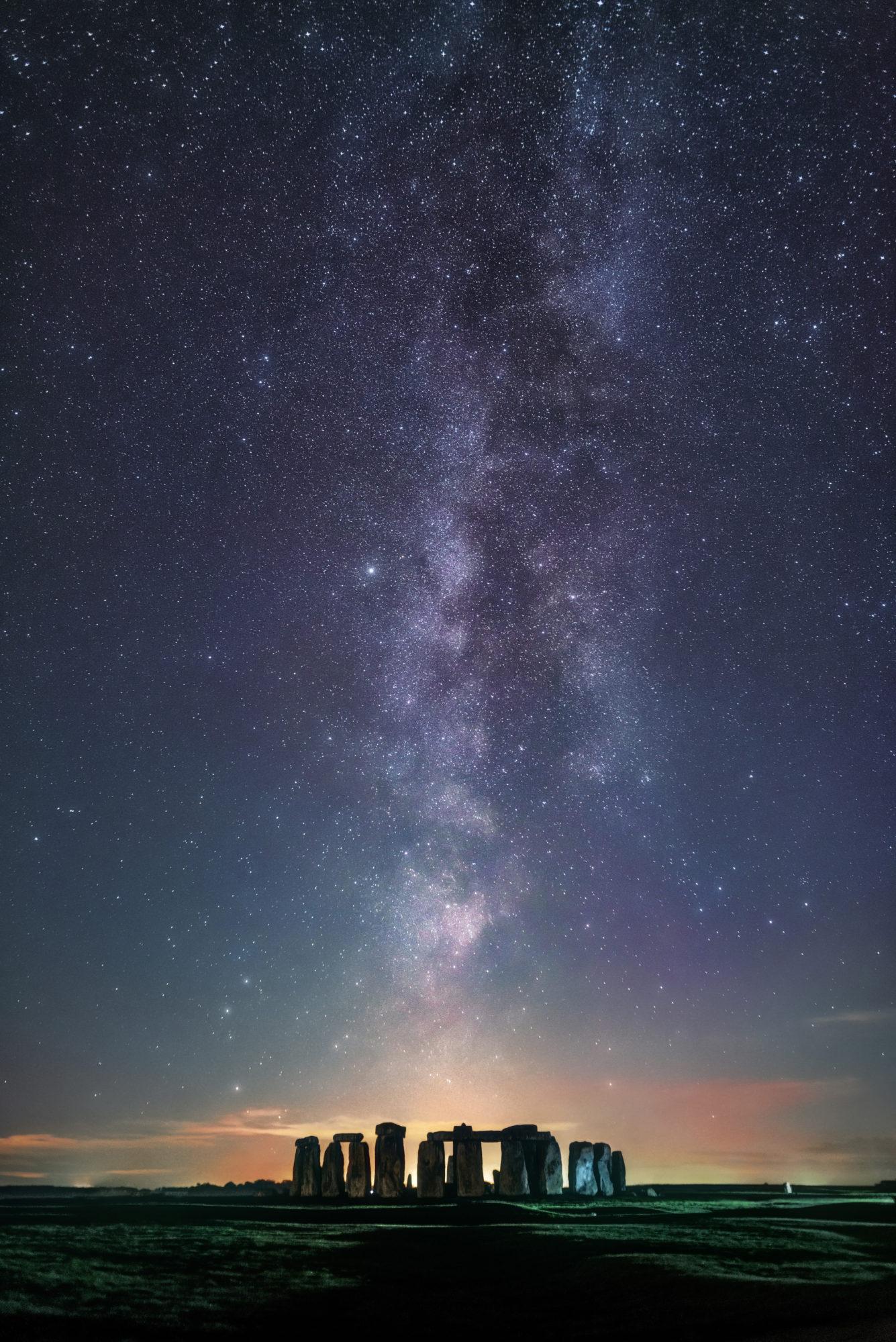 Sebastian Voltmer, 'Line Up Milky Over Stonehenge' (2018)