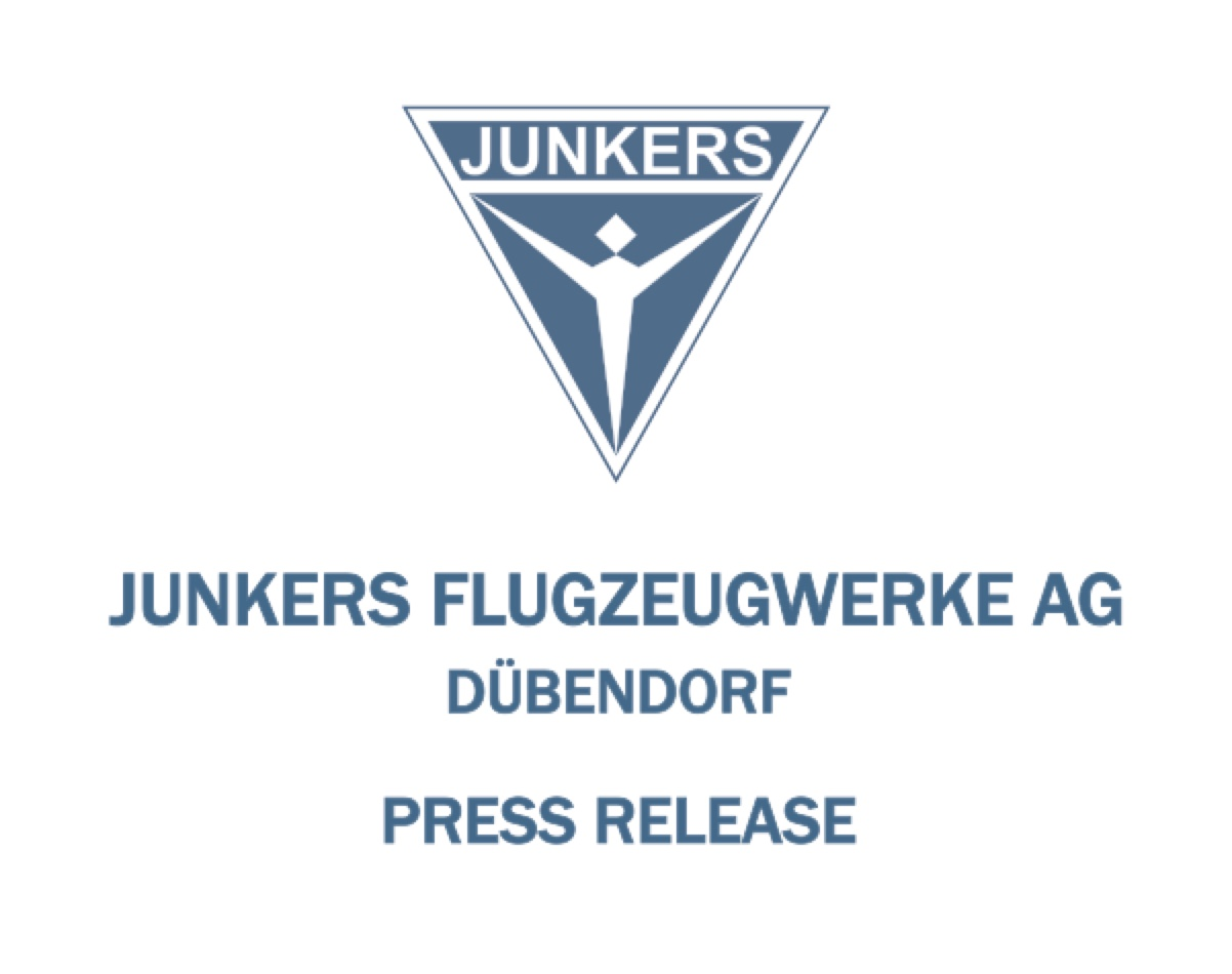 Press Release 10 April 2019  The JUNKERS F 13 Turns 100