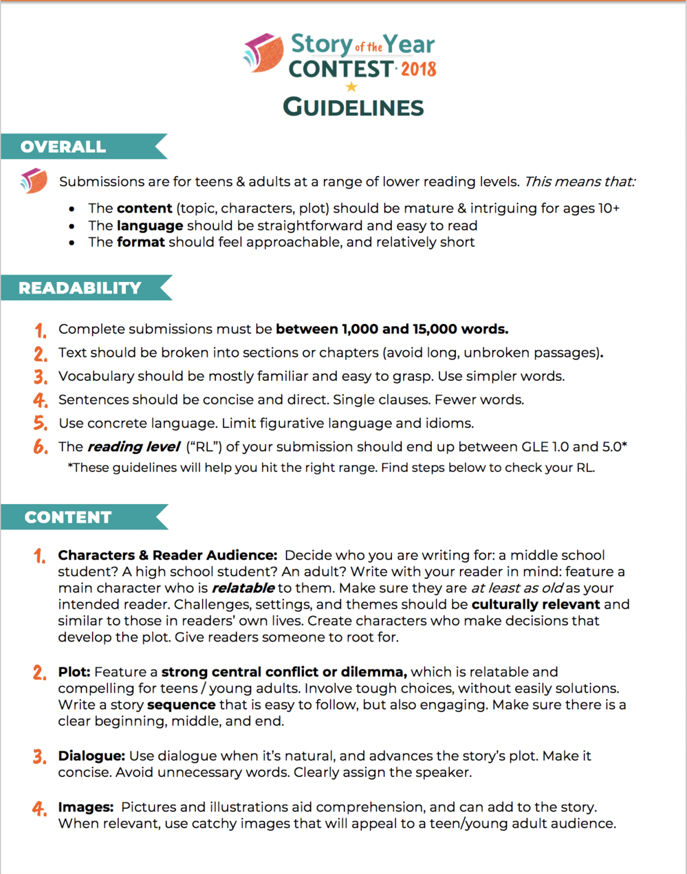 Guidelines Image 2018