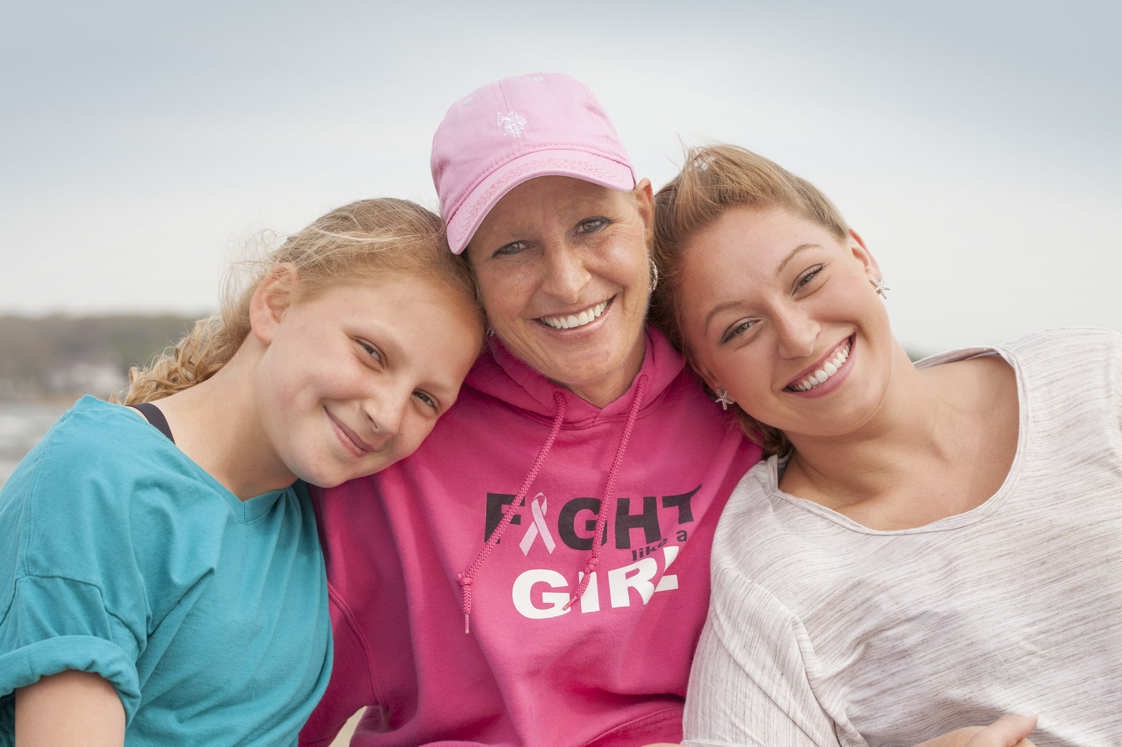 Cancer Survivor With Daughters