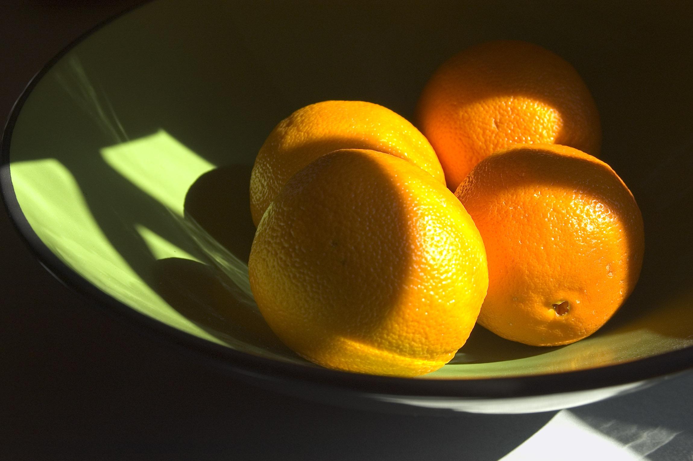 Oranges In a Bowl