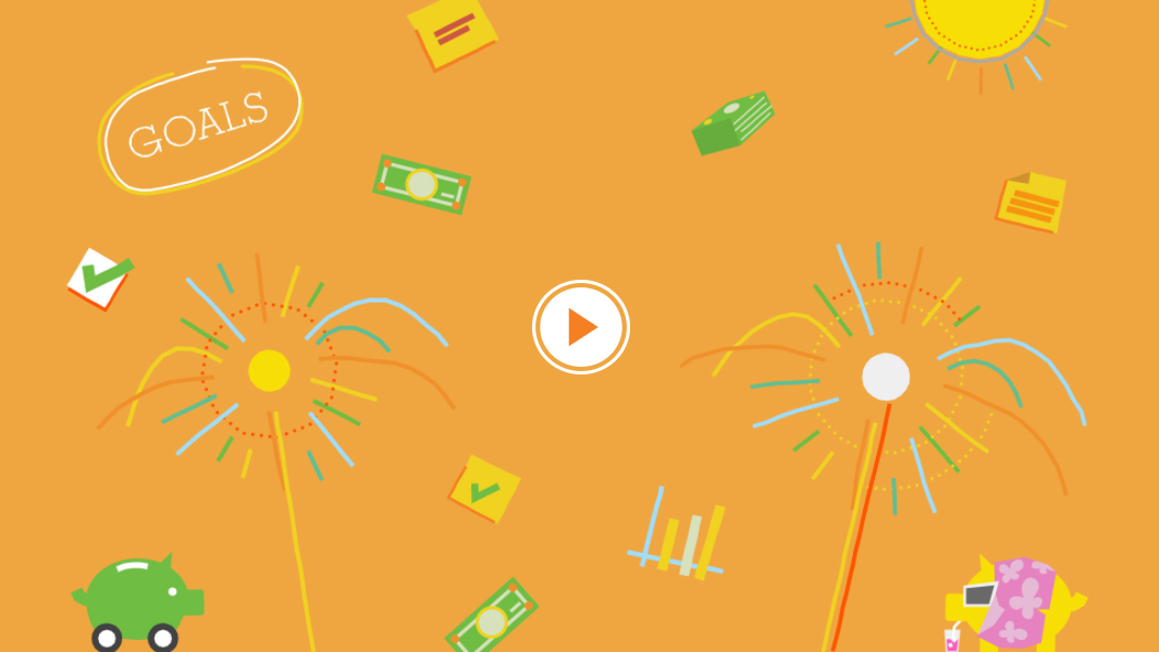 New Years' Financial Resolutions - I tend to buck a bit when graphics processes become too streamlined and cookie-cutter. With this video in particular, I wanted to mess with the hand-drawn-on-paper feel, and tried a few things that involved depth on the z-axis, to see how that would go. Deutsch and PNC were really cool about everything I experimented with.