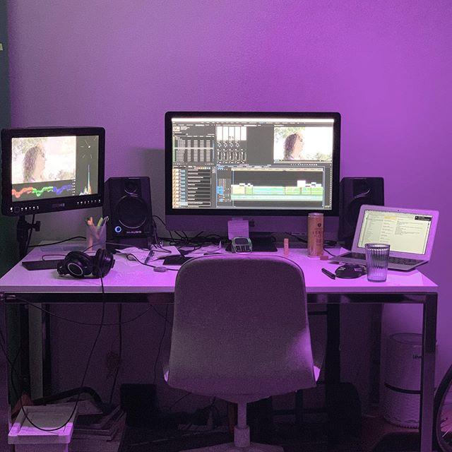 Weekend schedule: editing #postproduction