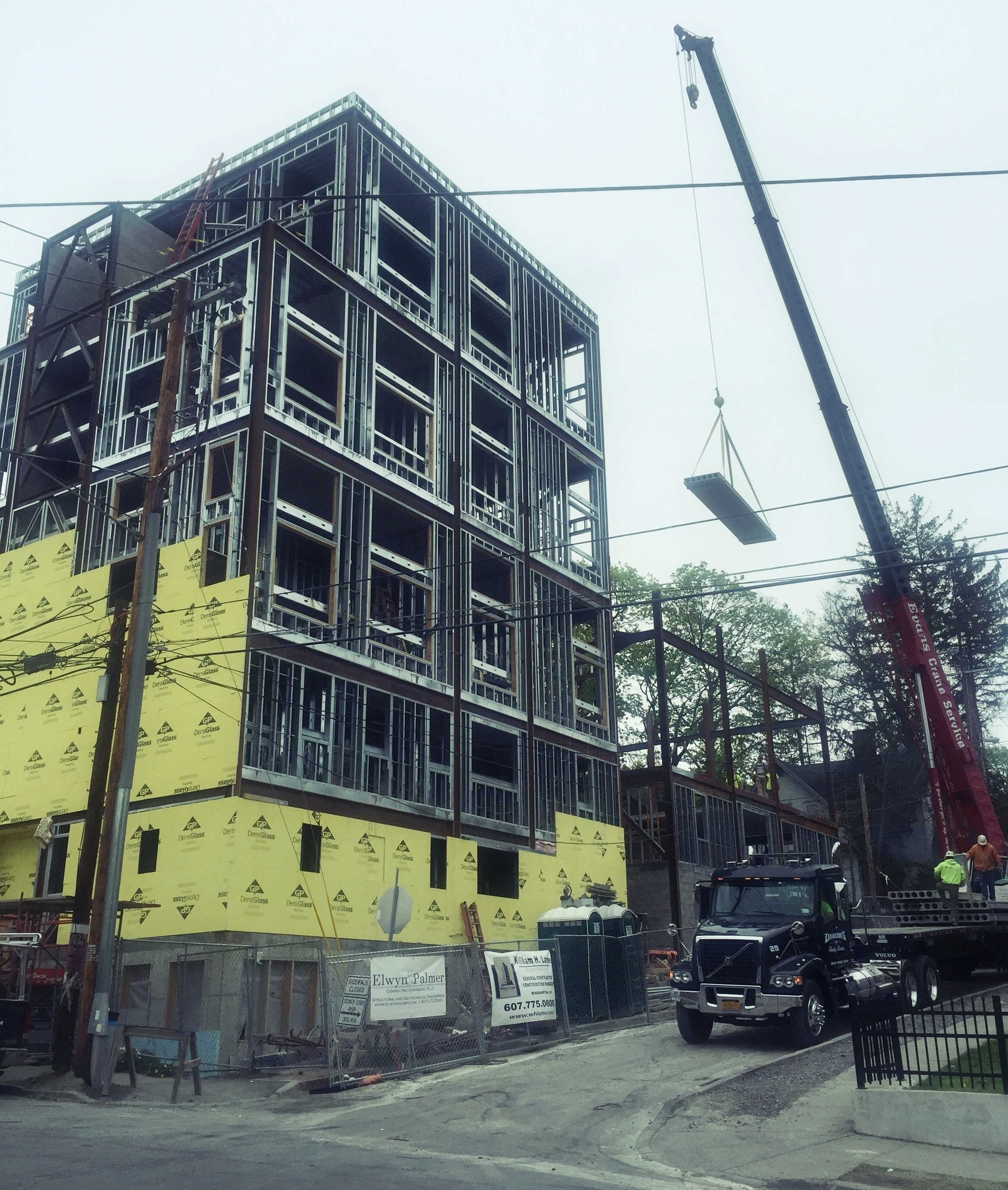 Sixth month of construction on the 201 College Ave site