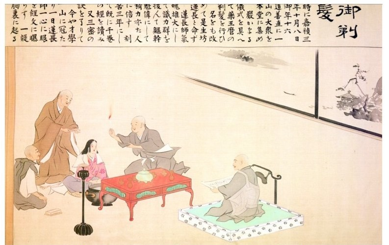Nichiren Daishionin's Entrance Ceremony into the priesthood