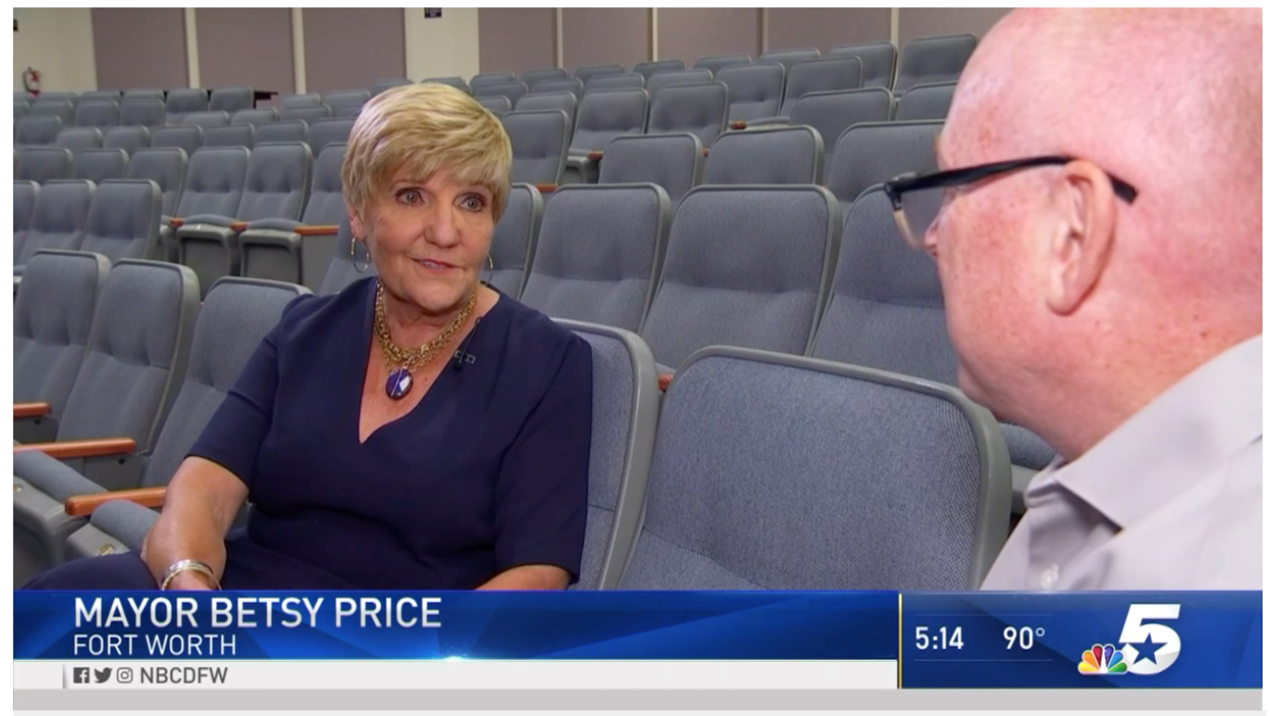 Mayor Price interviewed about Best Place for Kids! on NBC 5