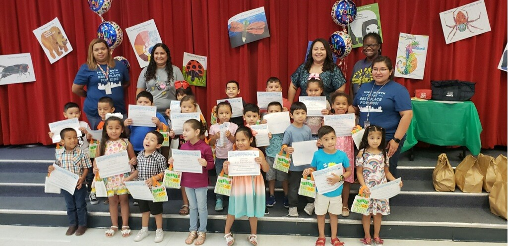 Summer program graduates at Diamond Hill receive their Certificates of Completion endorsed by Mayor Betsy Price.