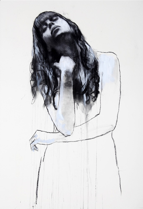 """'Natalie'    Mounted Giclee Print on Fine Art Paper. Image size - 24"""" x 16"""""""