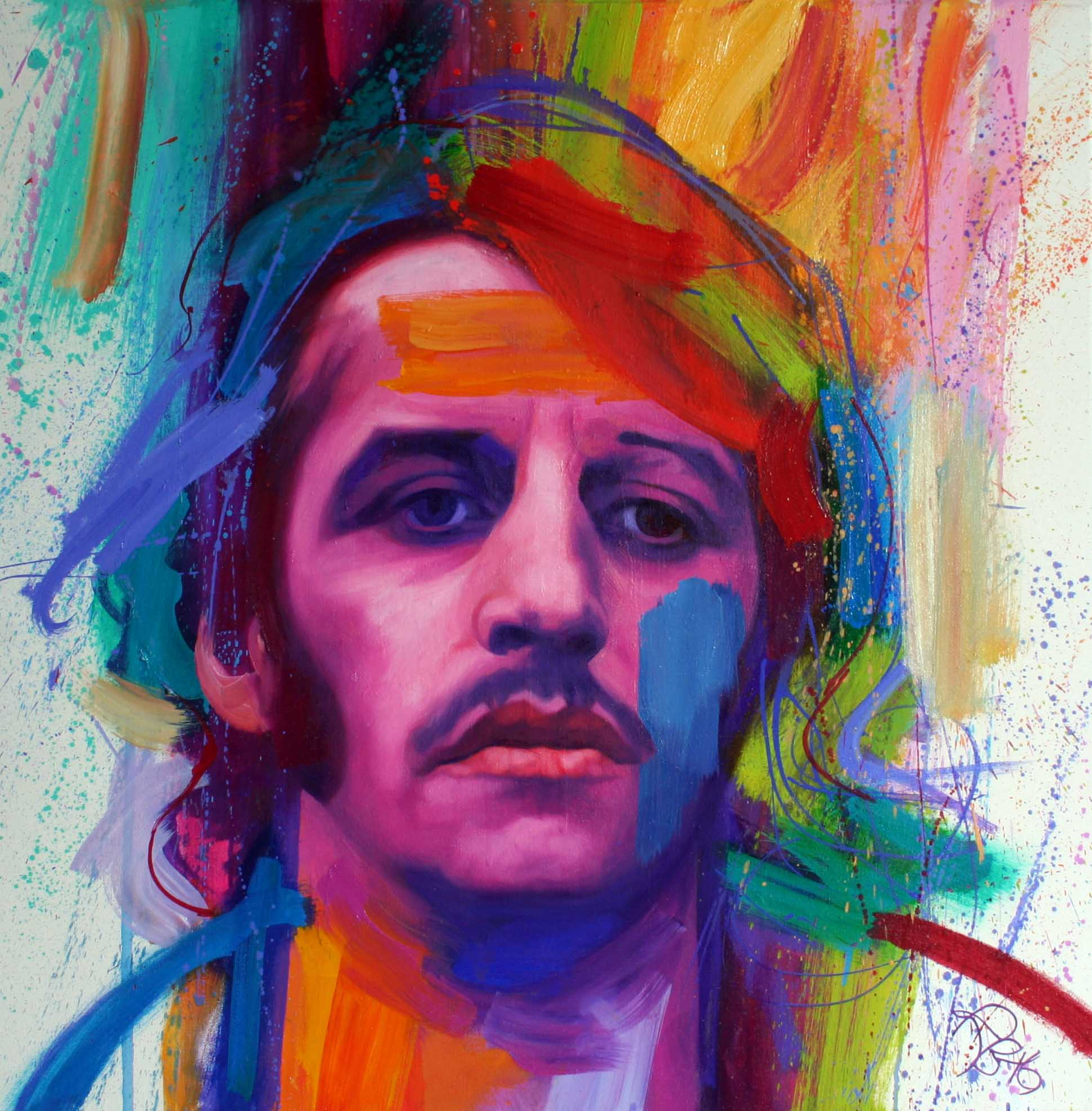 'Ringo'    Original Work now Sold.  Available as a Limited Edition Print on Canvas. Hand signed and numbered by the artist.
