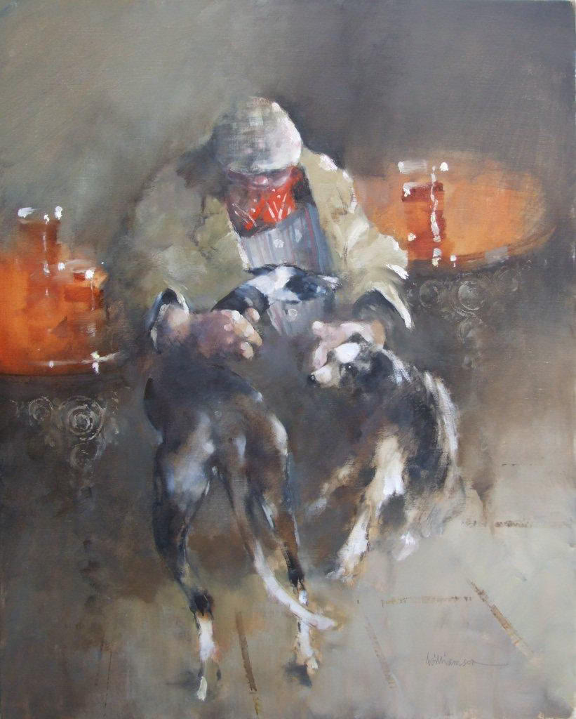 'Settling'    Original Oil on Canvas,  Also Available as a Limited Edition Giclee Print on Both Fine Art Paper & Canvas