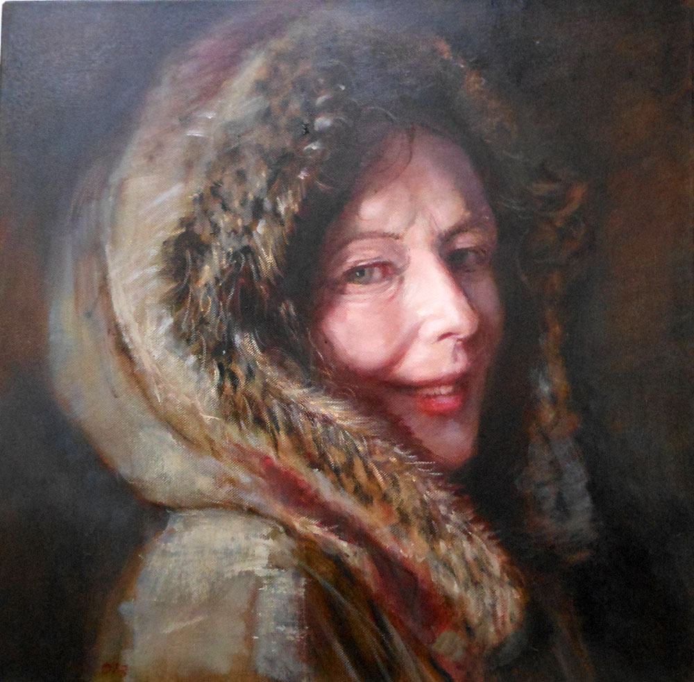 'Fur Coat'    Original Oil on Canvas