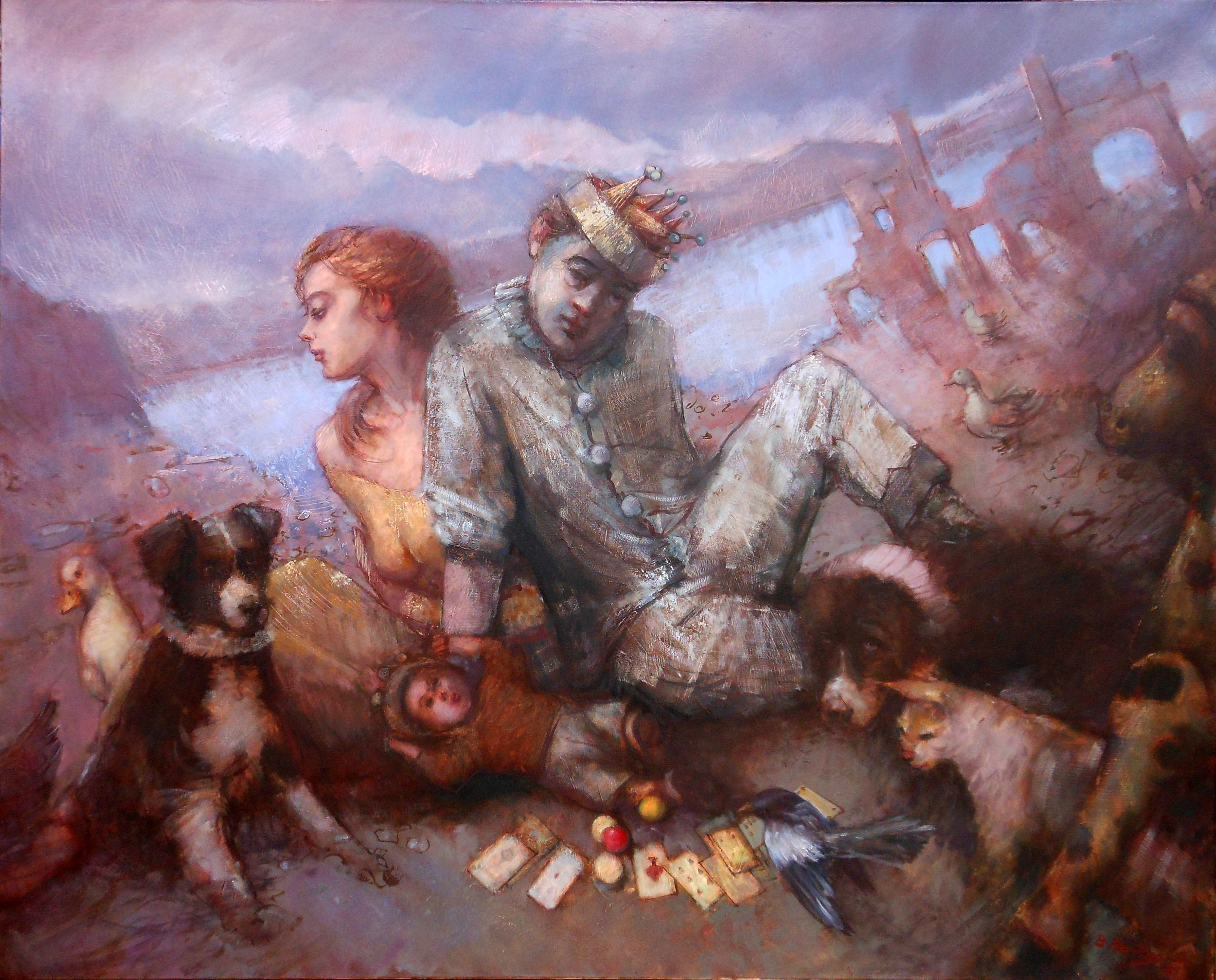 'The Displaced Ones'    Original Oil on Canvas