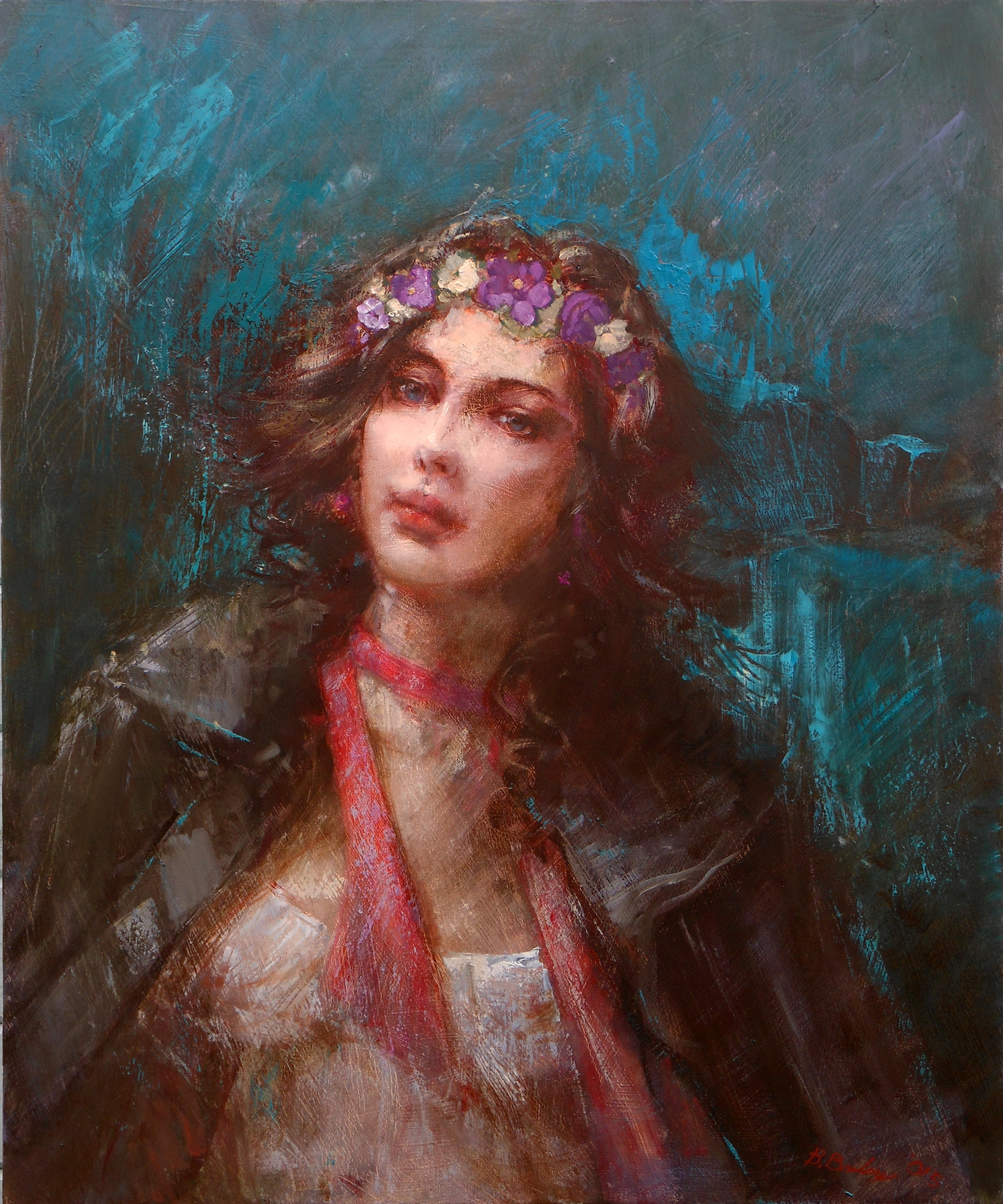 'The Heroine'    Original Oil on Canvas