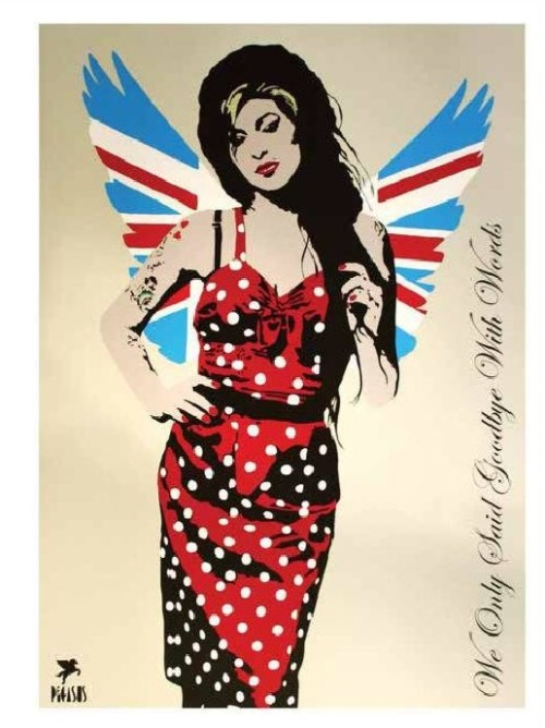 'Amy'  ,  Hand Embellished & Hand Stenciled Limited Edition Print.
