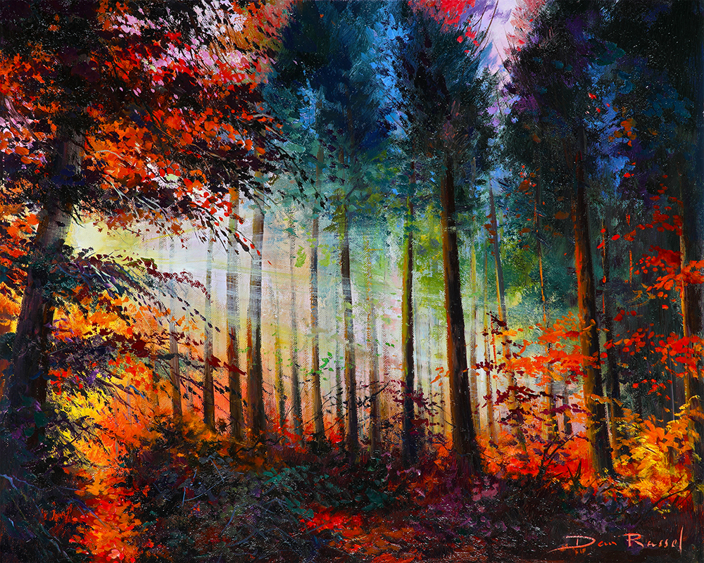 "'Dappled Sunlight'   Limited Edition Giclee Print on Board Mounted Canvas, 16"" x 20"""