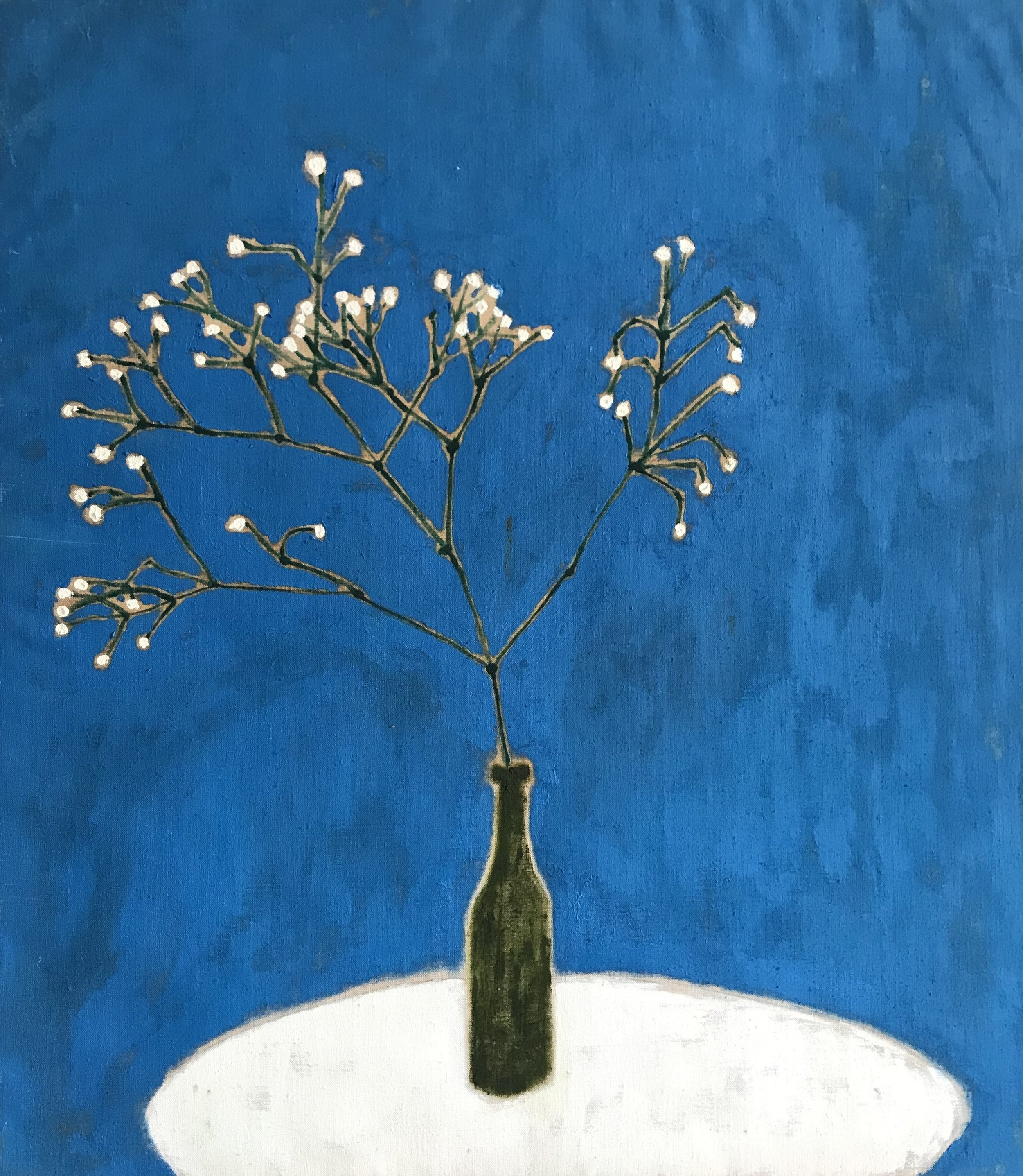 "'Feeling Very Gypsophila'    Original Oil Work on Linen, 29"" x 25"""
