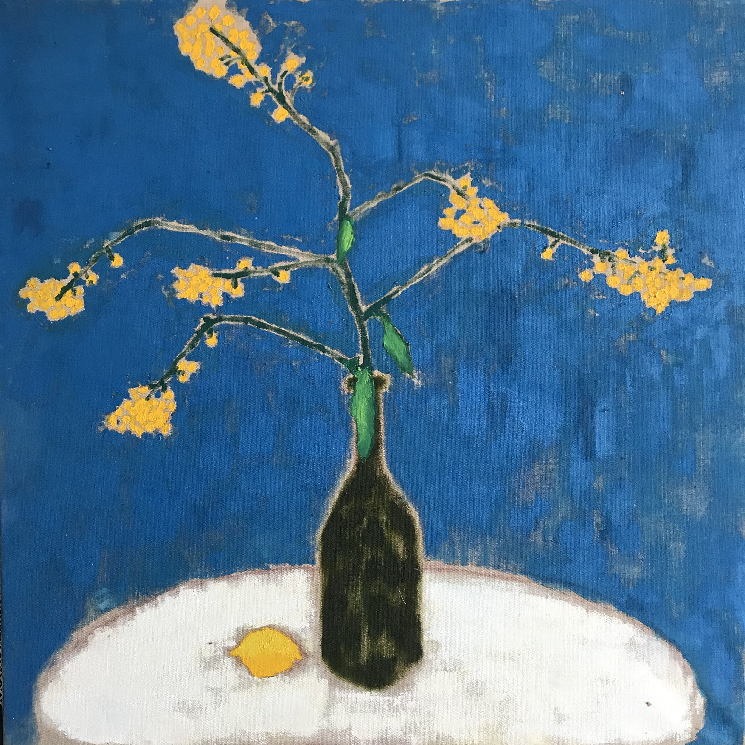 "'Lemon & Friends'    Original Oil Work on Linen, 32"" x 32"""