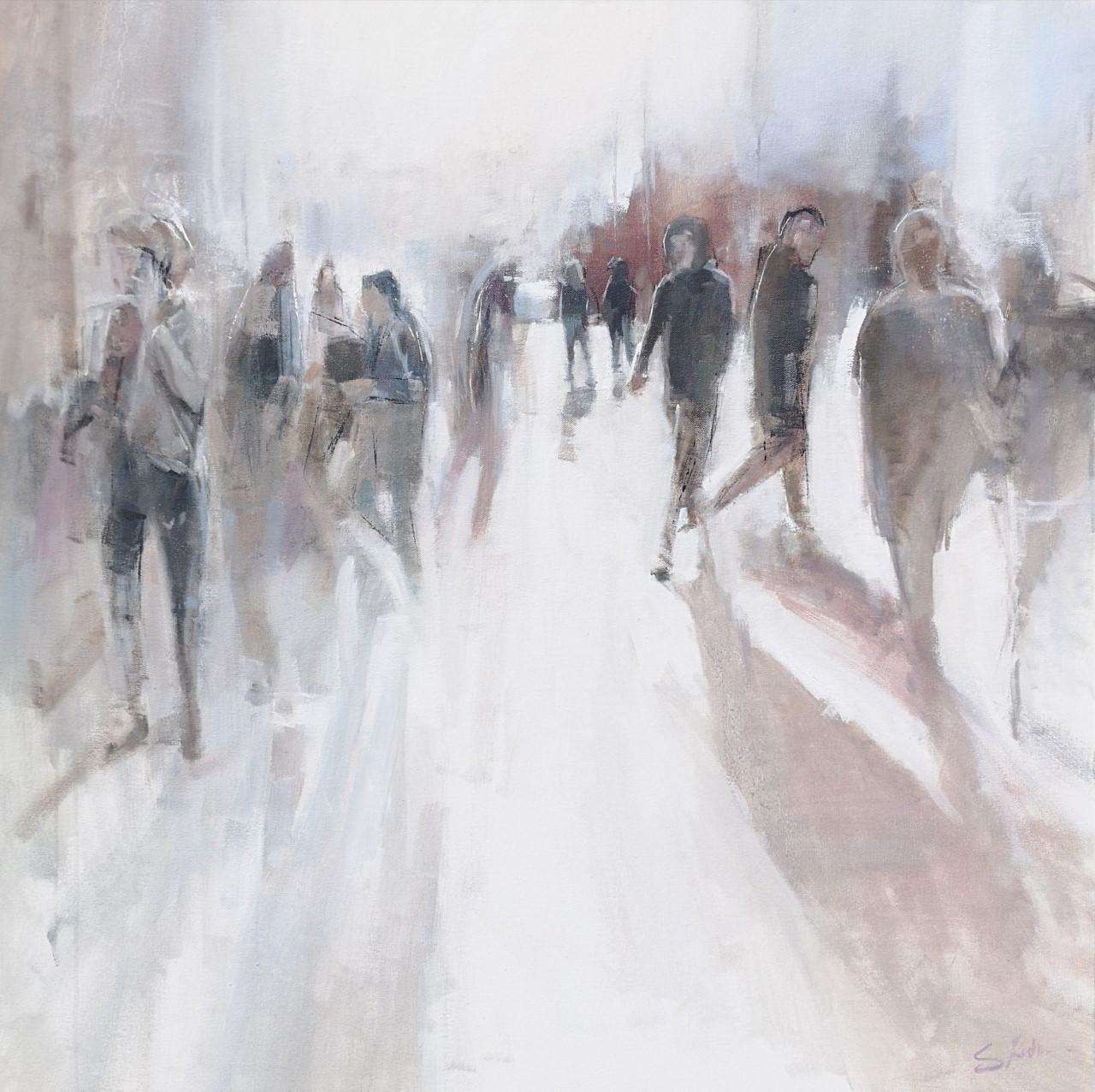 'Castle Street'   Oil on Canvas, 76 x 76 cm