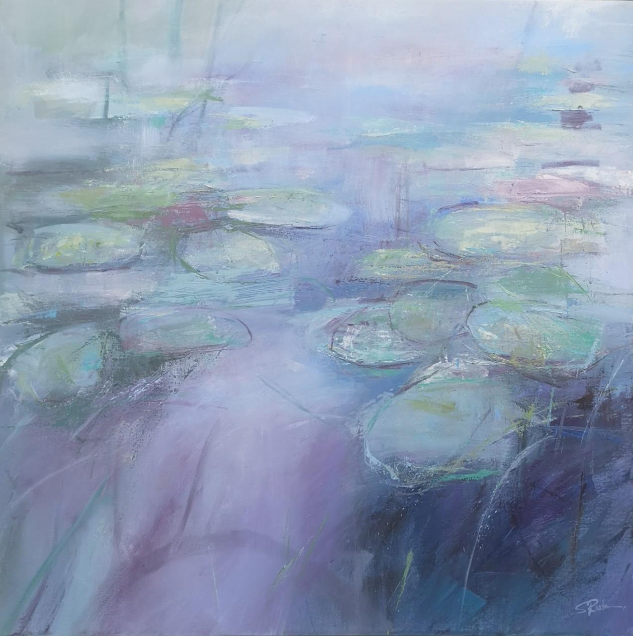 'Lilypond 1',    Oil on Board, 50 x 50 cm