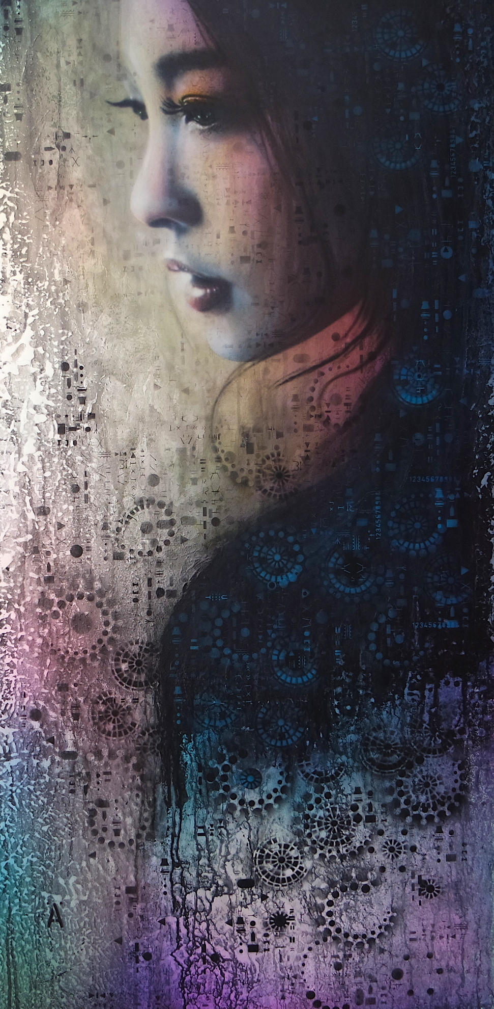 "'Geisha (Made in Japan)',      Board Mounted Canvas Giclée Print on Canvas, Edition of 50  , 40"" x 20""'  Original work also available, please contact us for further details"