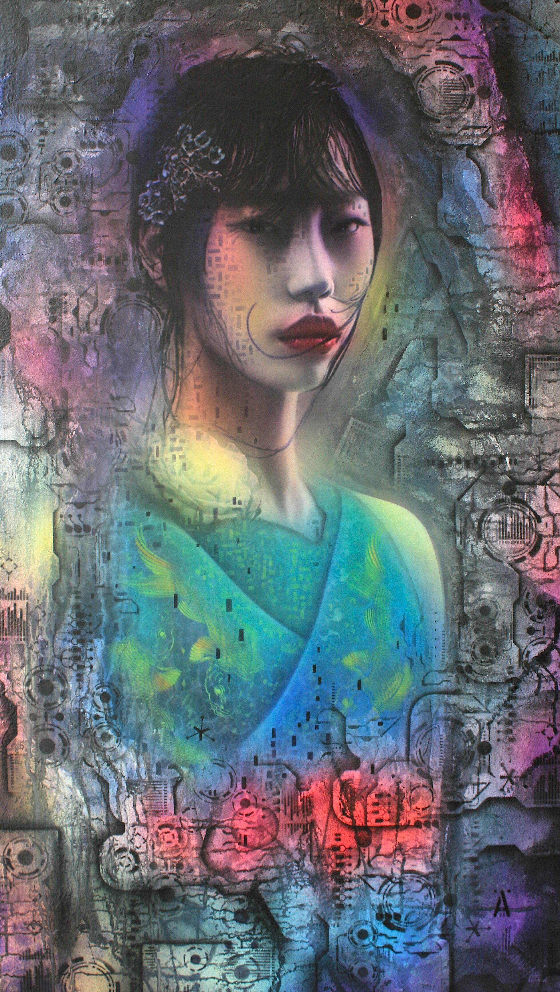 'Dreams'      Original Mixed Media Work on Board  , 65 cm x 122 cm