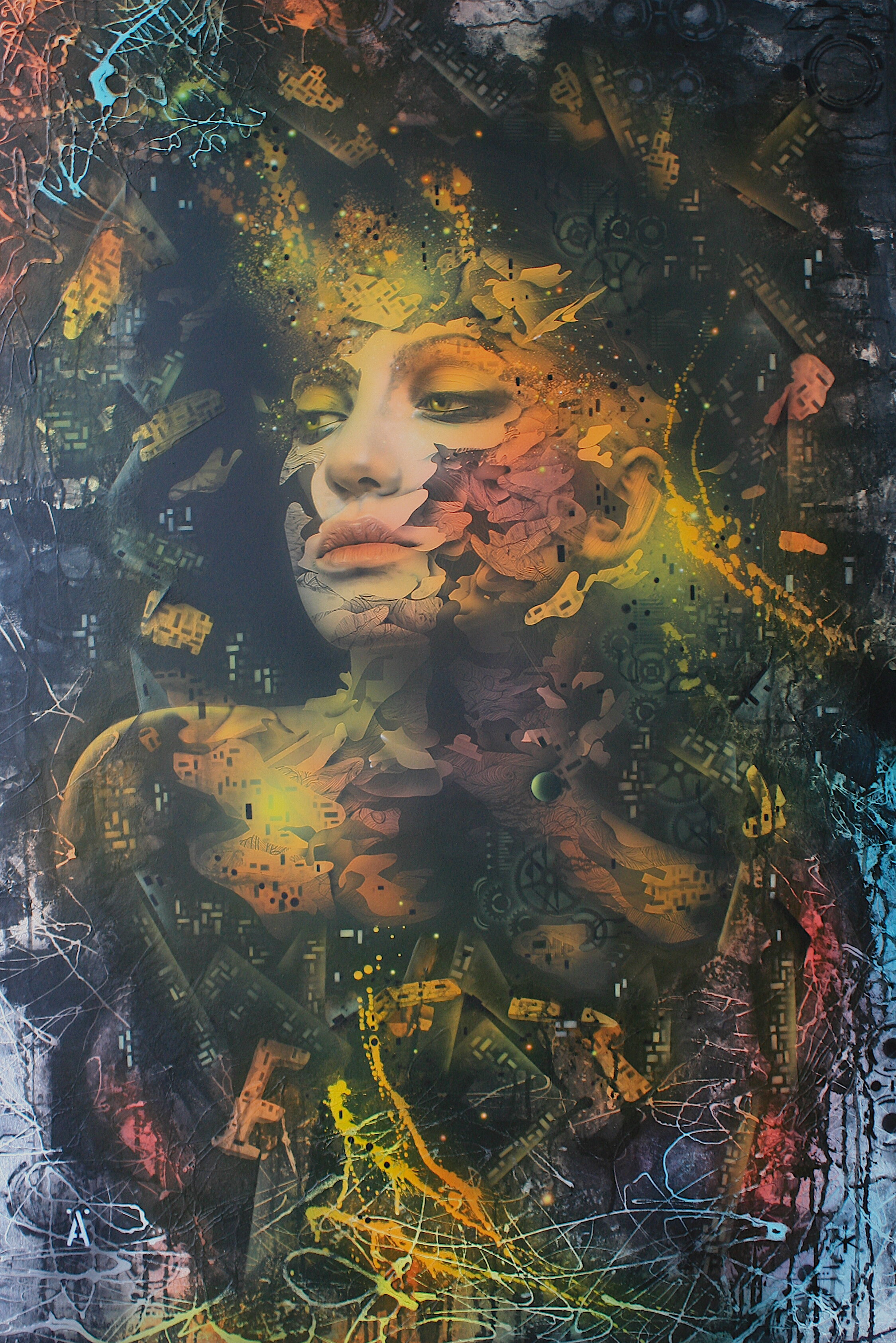 'Autumn'      Original Mixed Media Work on Board  , 122 cm x 80 cm