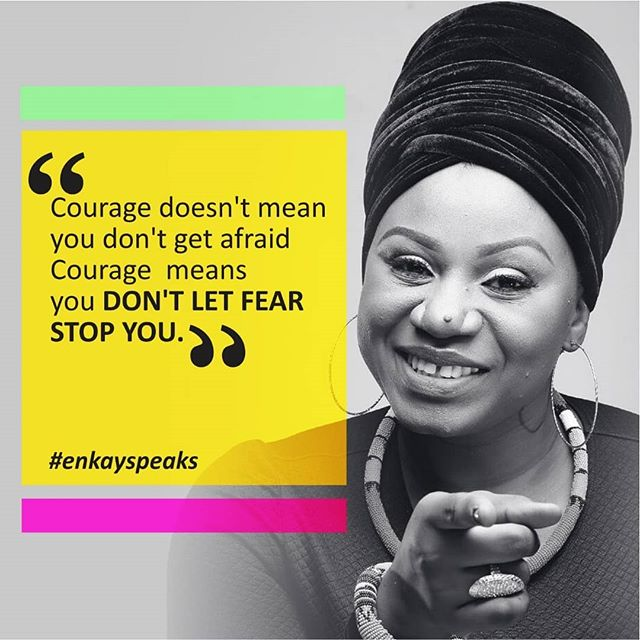 I feel very strongly that there is someone out there who is afraid to take a leap!  Chin up, Brace up and DO IT AFRAID!  Then watch God honour you . #goodmorning #thoughtsfrommyheart #enkayspeaks