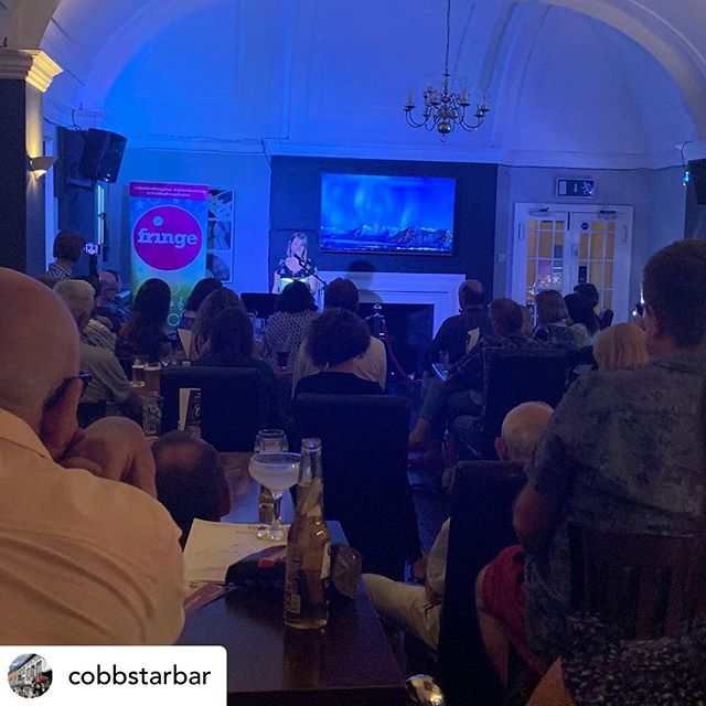 @cobbstarbar posted enthusiastically after Louise's *sold out* poetry show last night. They even shared a tiny (safe) snippet of The Dirty Carols needing a wee.