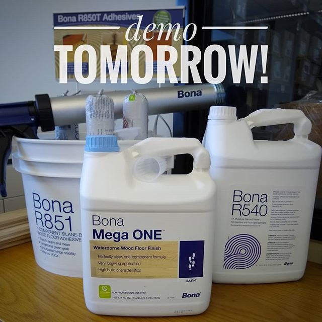 Are you free tomorrow afternoon? We're hosting @bona_nw tomorrow for a lunch and learn demo featuring The New Bona R540 and Bona Mega ONE. Stop by between 11 and 2 at our Portland location. Eugene 2/19 and Woodinville 2/21.