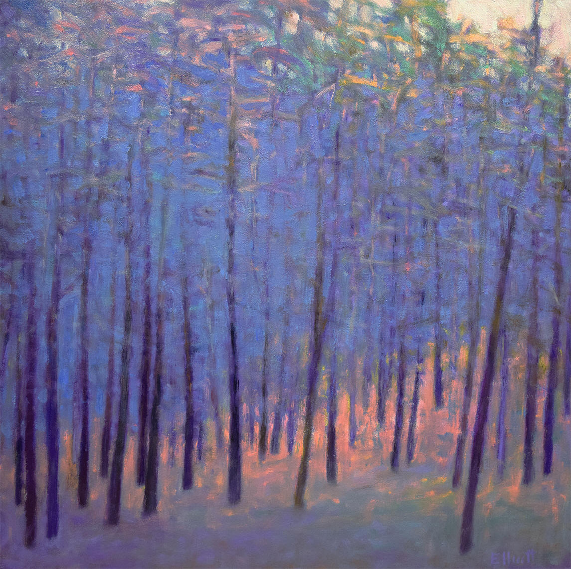- Soft Forest Blues (42x42) $4900
