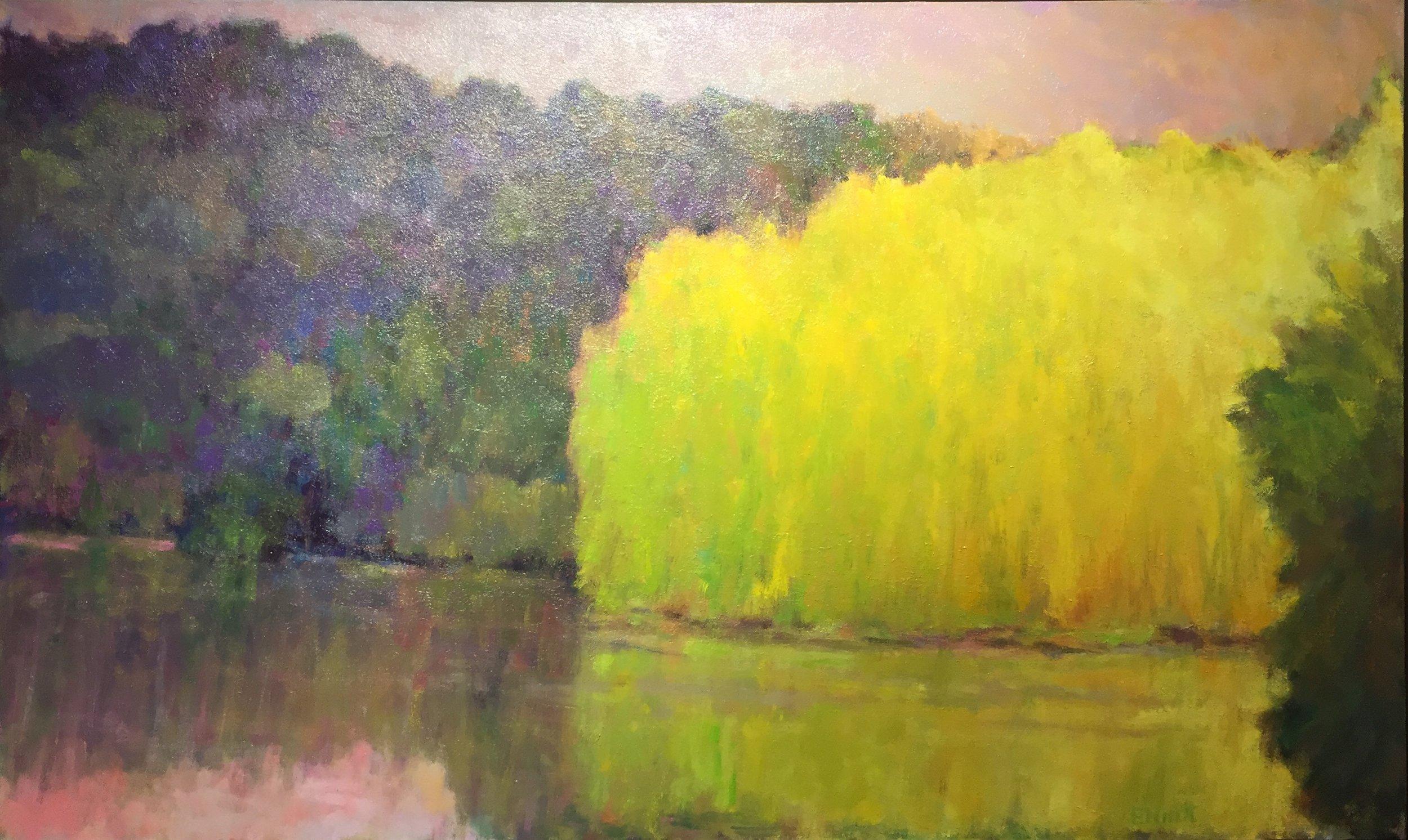 - Yellow On A Still Lake (36x60) $8500