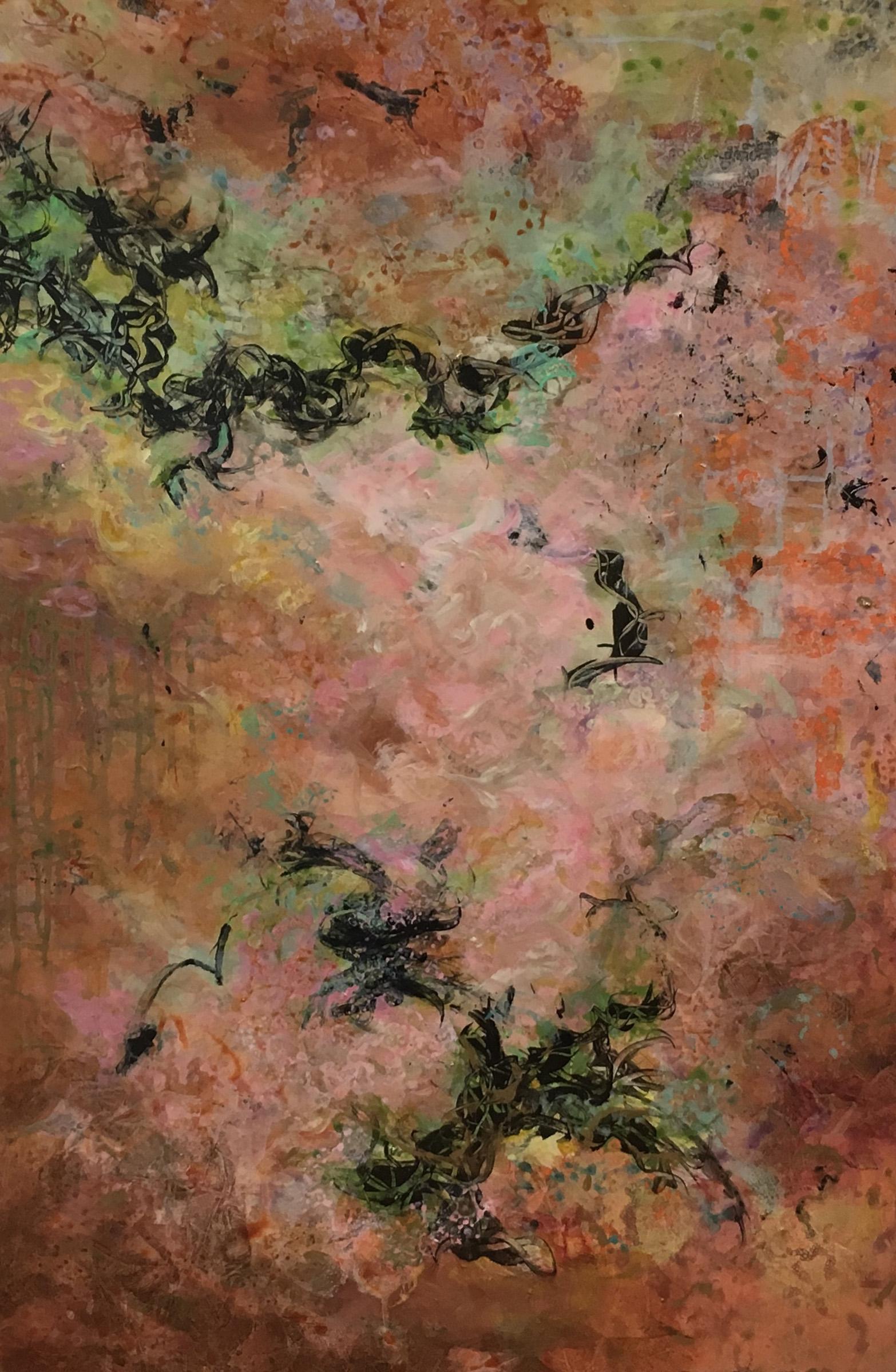 - Coral Awakening (36x24) $2900