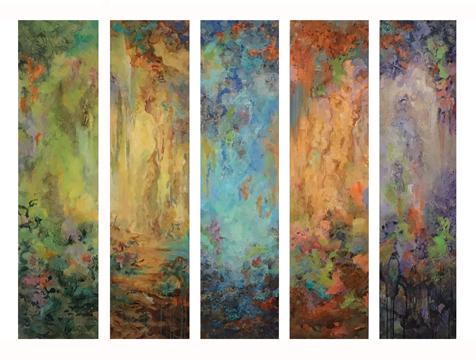 - Color Meditation Quintet (48x12) $9300
