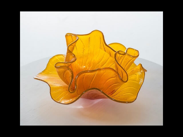 - Yellow Glass Bowl (16x17x9) $1900