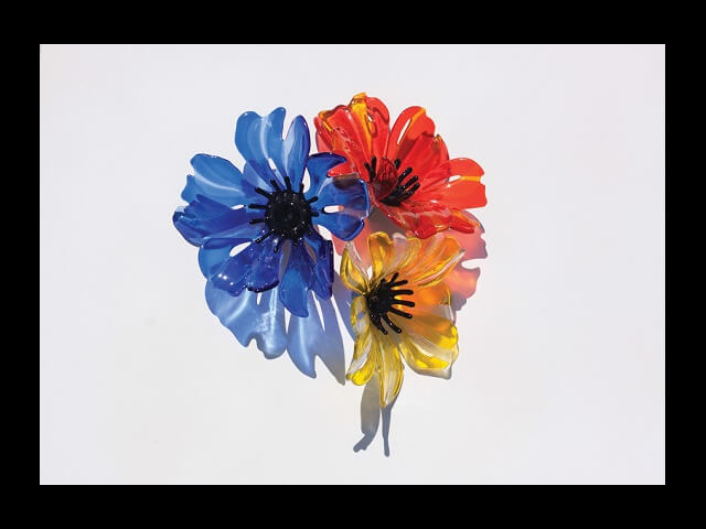 - Wall Glass Poppies (Small) $275 (each)