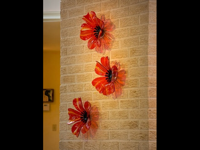 - Wall Glass Poppies (Large) $350