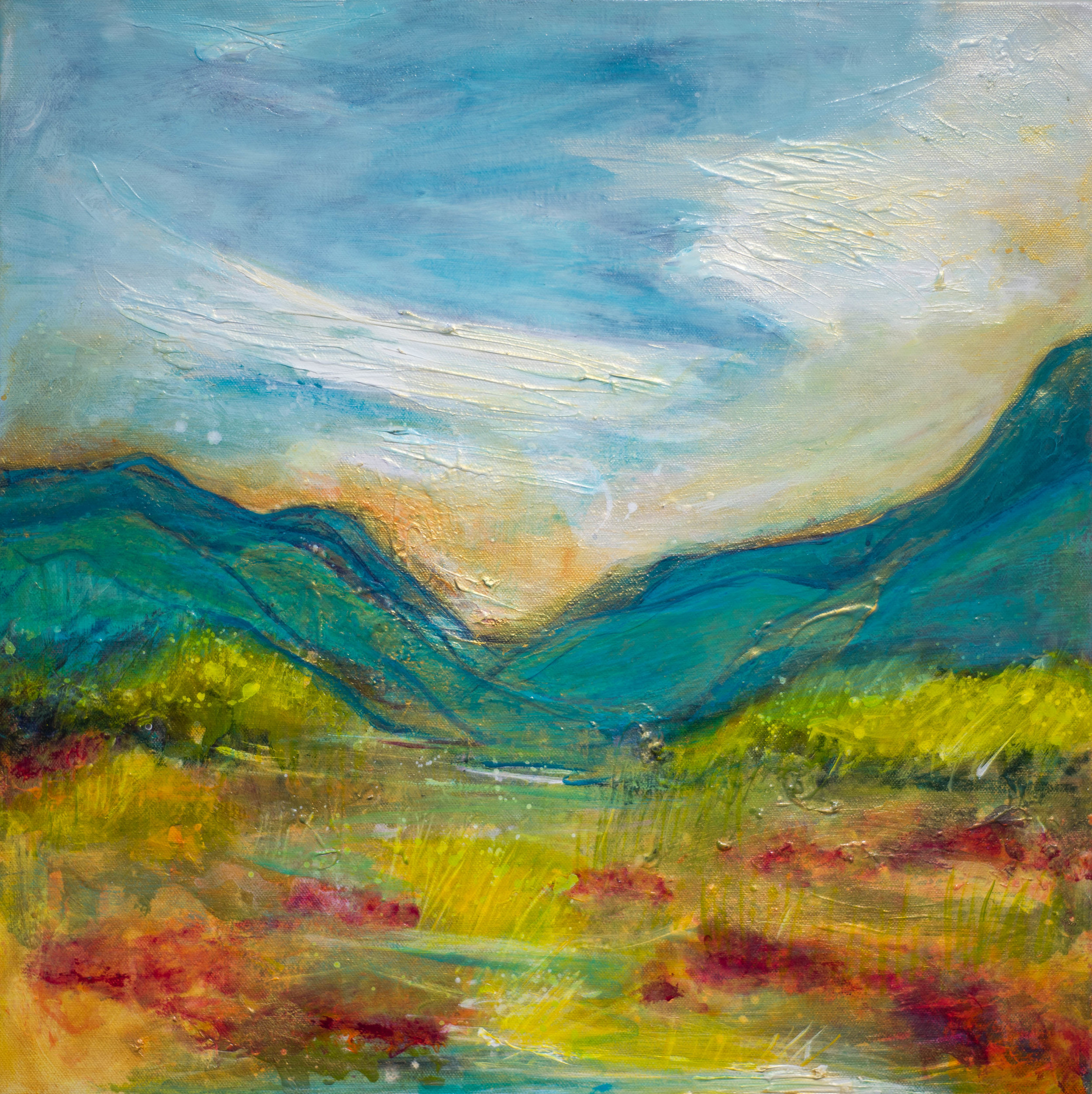 - Many Layers of Blue Sky (20x20) $1500