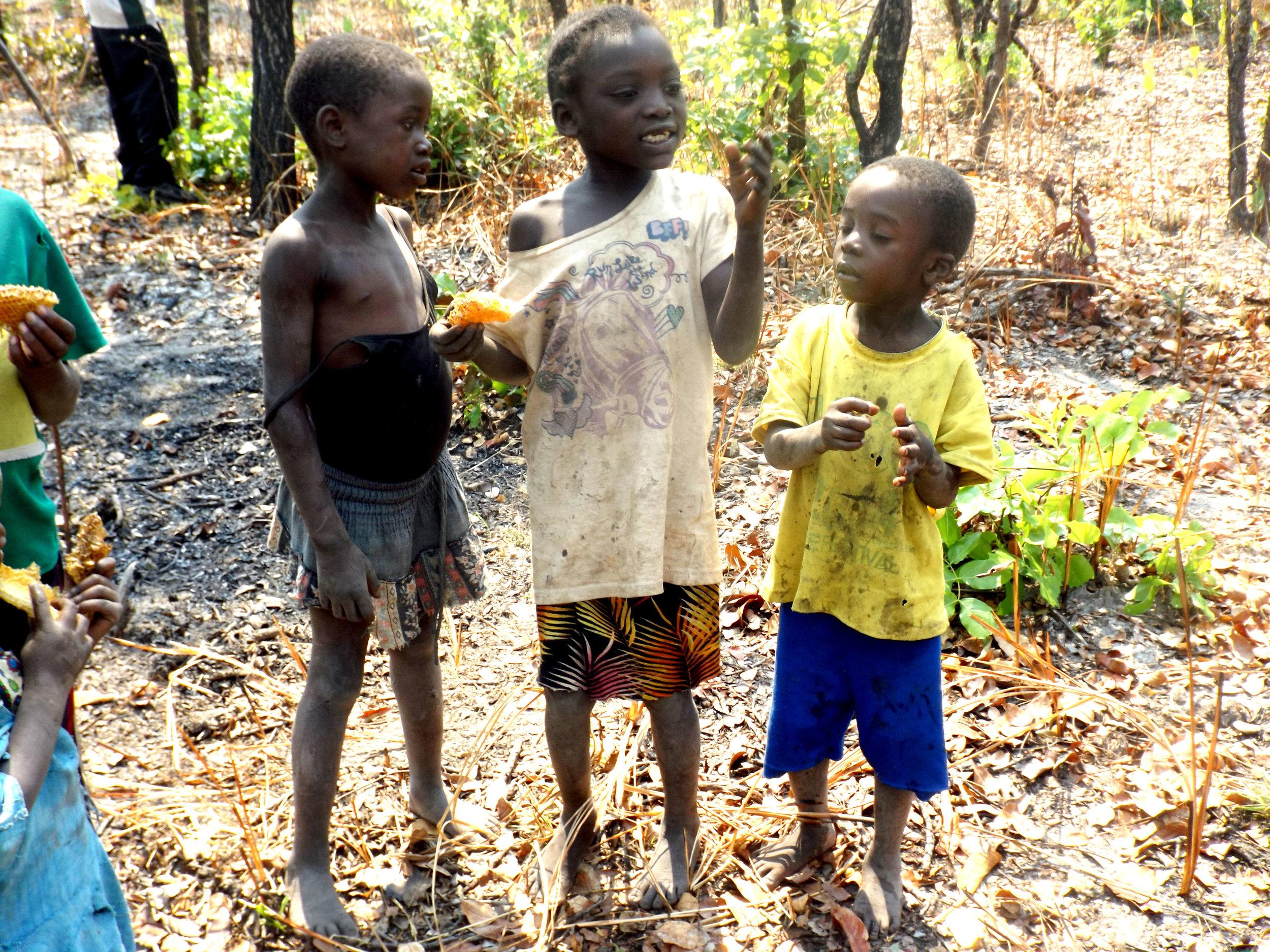 Children enjoying eating honey.JPG