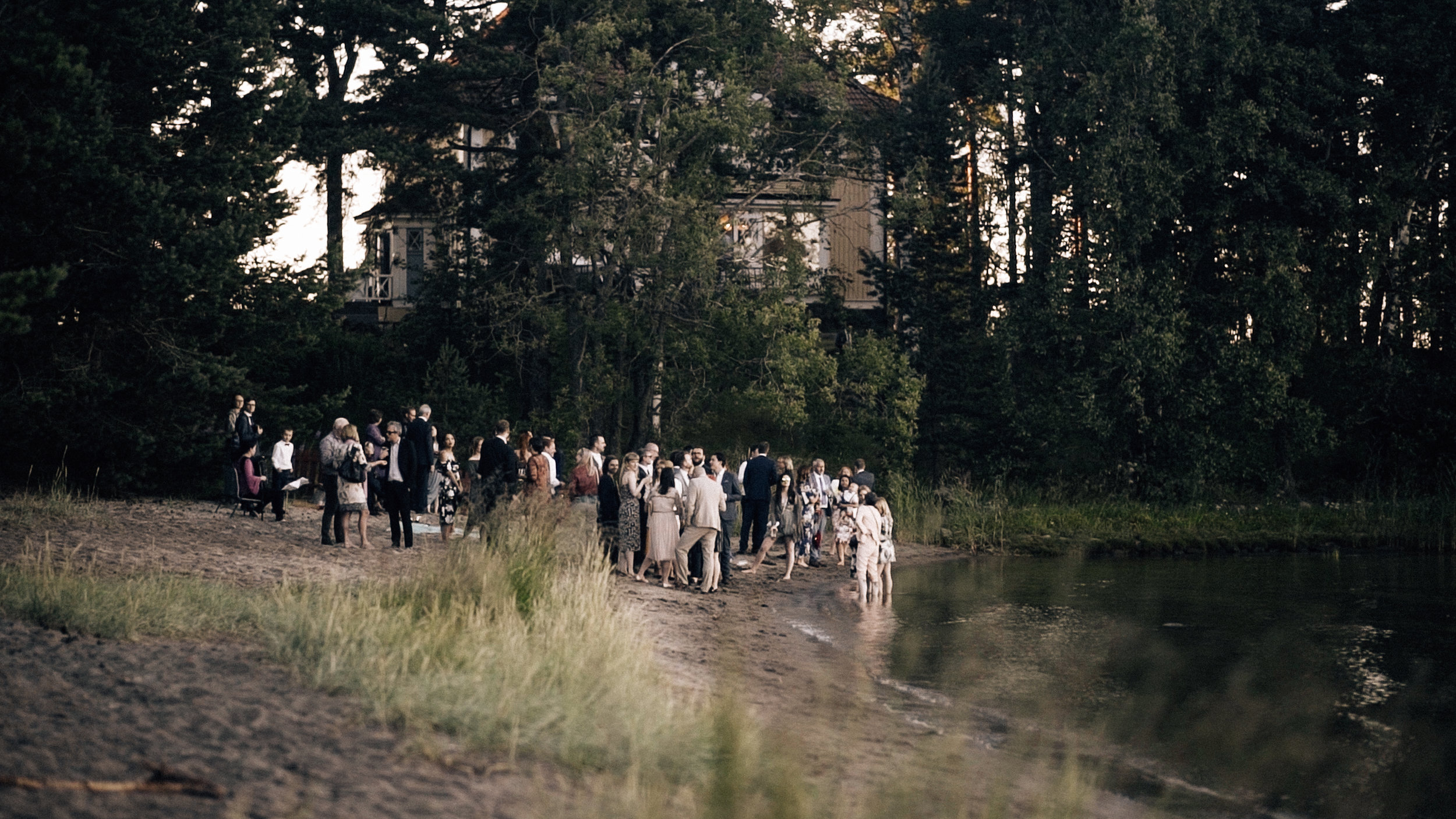 Wedding reception on the beach in Helsinki wedding videographer