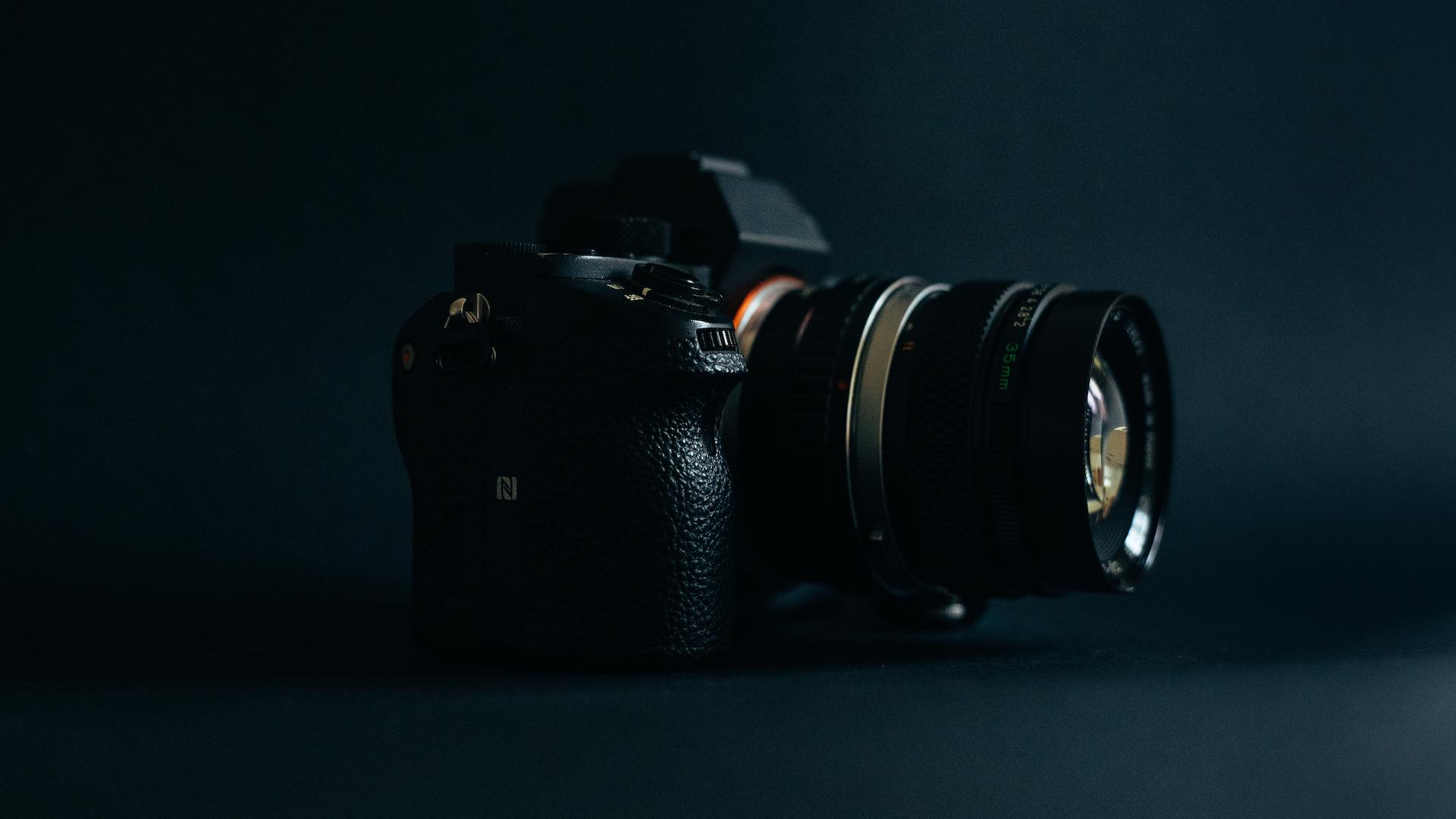 35mm Olympus lens one a Sony A7SII