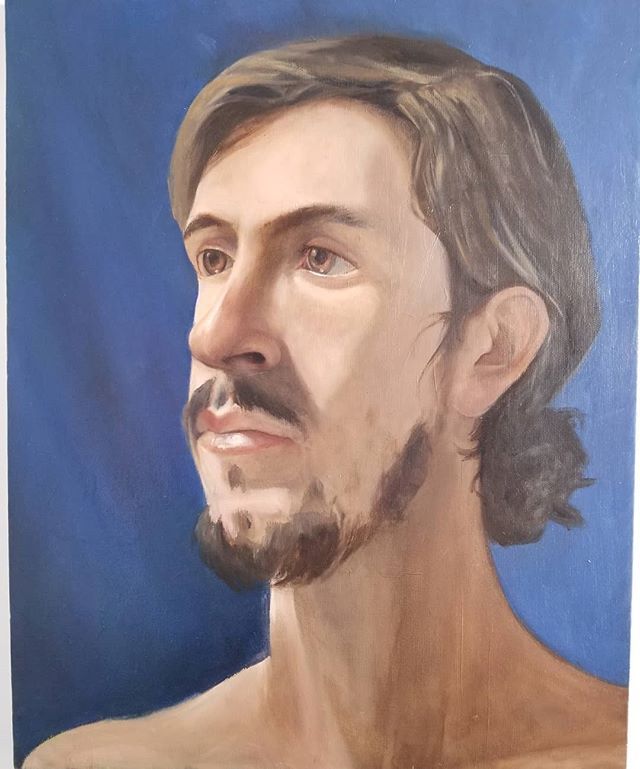 Oil study of a live model, done over a few sessions in the good company of other Savannah artists at the Jepson. #livemodel #oilportrait #311art #jepsonmuseum