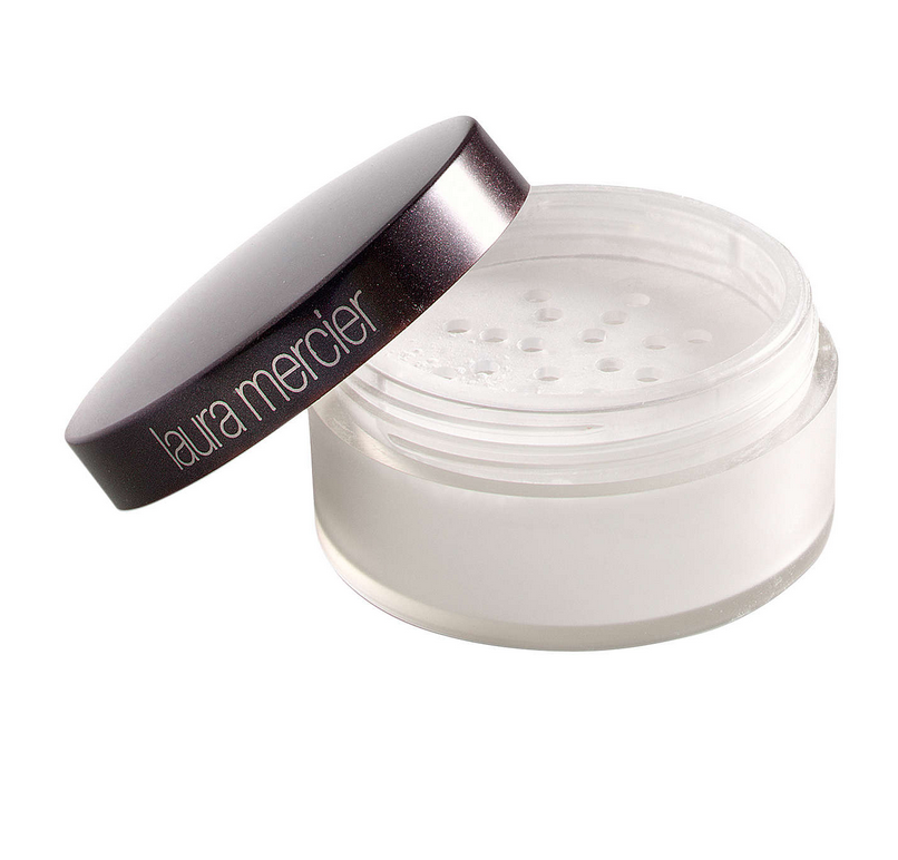 Laura Mercier Brightening Setting Powder  - Apply with your beauty blender focusing on under eye, chin, forehead, and nose. Apply generously. Allow it to set for a minute or two and then brush away excess with a powder brush.