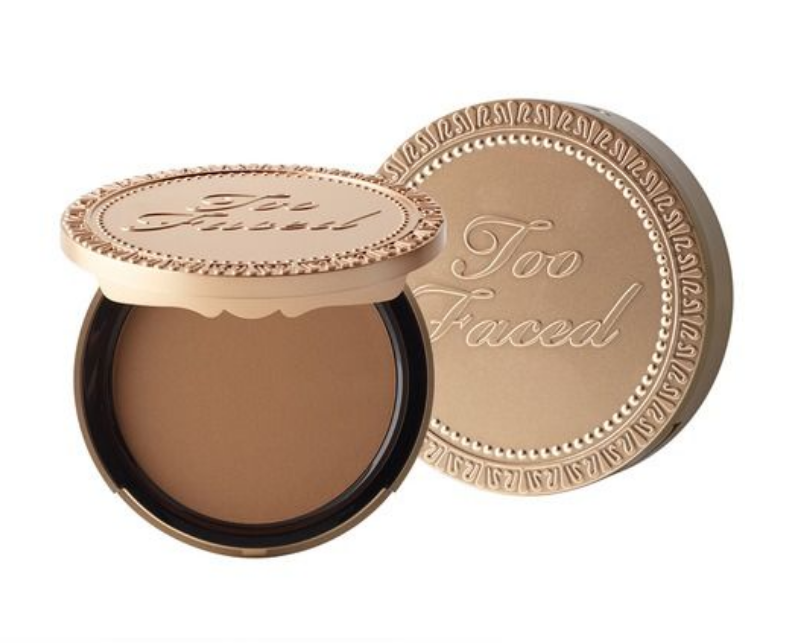 Too Faced Chocolate Soleil (Color: Medium/Deep) - Apply this lightly around whole face and neck. Apply heavy under cheek bone, top of forehead under the hairline, down the jawline, creating a # 3 on side of face.