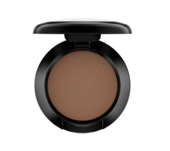 MAC Espresso - I use this on my lids and as my brow filler. I find a smaller eye shadow brush and apply on my brows lightly, building up where it needs to be. This creates a more naturally full look instead of a penciled on look.