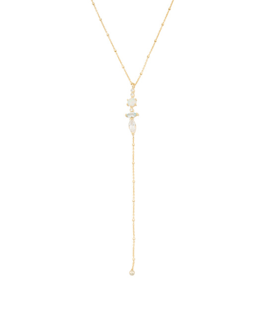 Sterling Silver Lariat CZ - $30